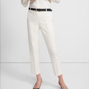 """Theory Crepe Cropped Pant """"Rice"""" color"""